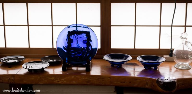 glass works studio yomitan pottery village, okinawa, japan