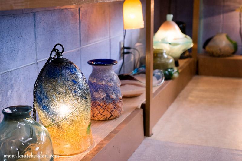 glass blowing yomitan pottery village, okinawa, japan