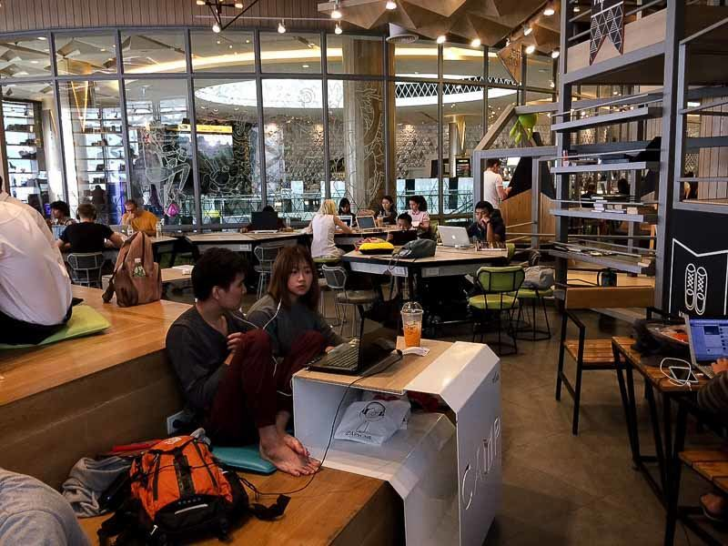 CAMP cafe and coworking space at Maya Mall, Chiang Mai, Thailand