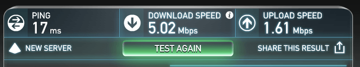 Wifi internet speed test at CAMP in MAYA mall, Chiang Mai, Thailand