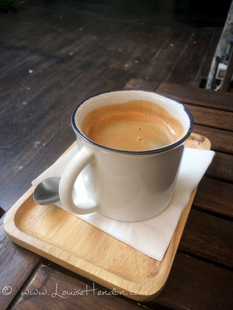 Americano at Librarista Cafe