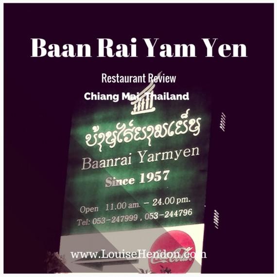Baan Rai Yam Yen Restaurant Review, Chiang Mai, Thailand