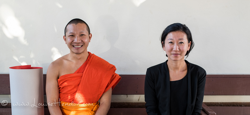 Meeting with Buddhist Monk at Monk Chat (Wat Chedi Luang Worawihan) in Chiang Mai, Thailand