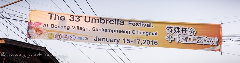 The 33rd bo sang umbrella festival in Thailand - photography