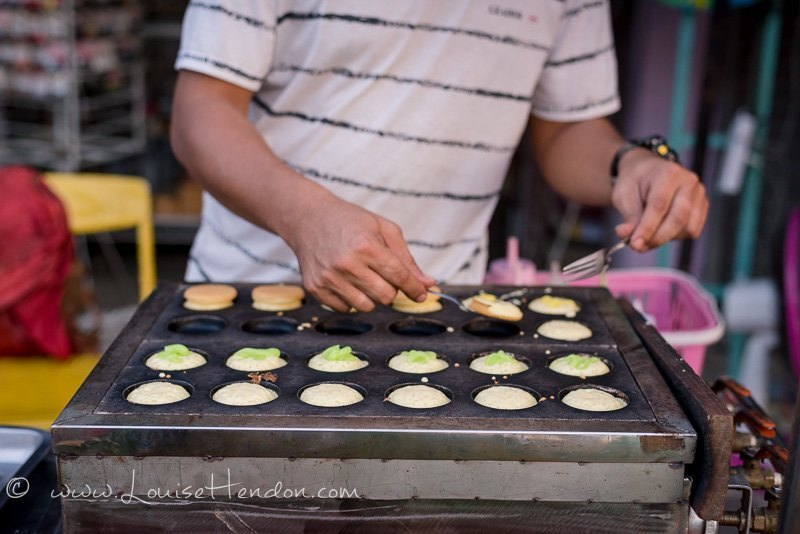 food at bo sang umbrella festival in Thailand - photography