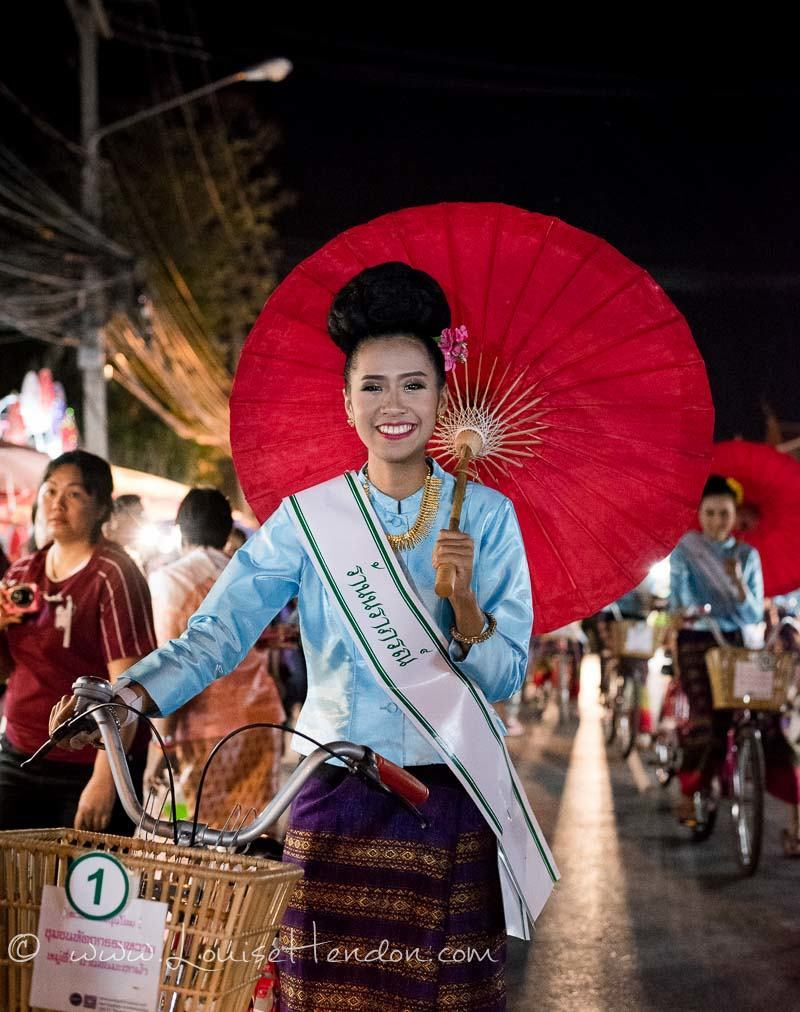 Photos of Beauty Pageant at The Umbrella Festival in Ba Song, Thailand
