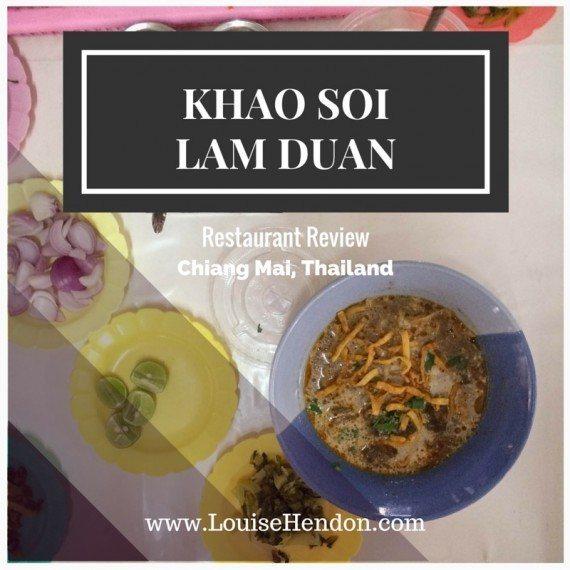 KHAO SOI LAM DUAN Restaurant Review, Chiang Mai, Thailand