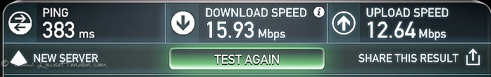 internet speed on ais at akha ama old town