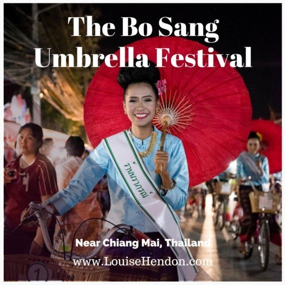 the bo sang umbrella festival chiang mai thailand photographs