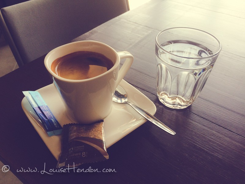 americano at box cafe and hostel in chiang mai, thailand