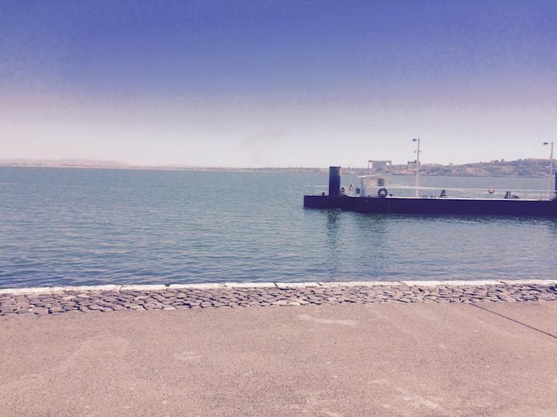 View of sea at Montana Lisboa Cafe Lisbon Portugal